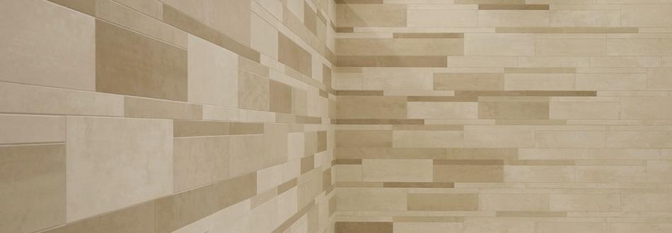 Badkamertegels beige - Muur tegel installatie ...